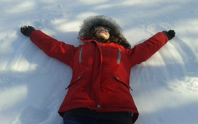 andělíček ve sněhu