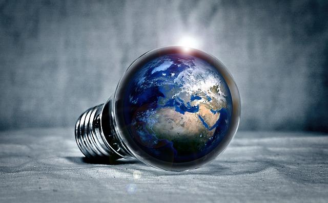 světadíly v žárovce