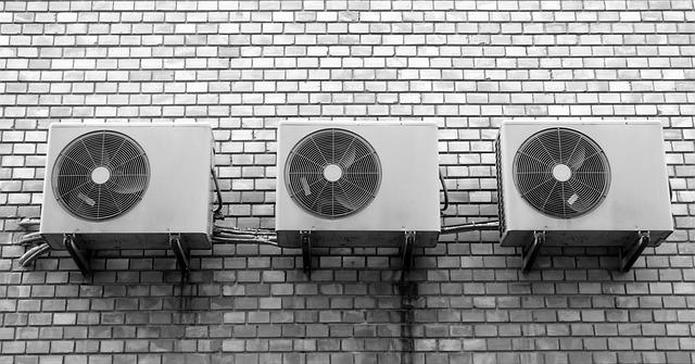 Klimatizace umístěná na stěně