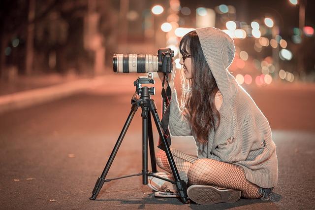 fotografka v noci