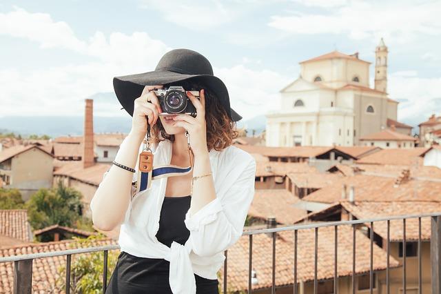 turistická fotografka