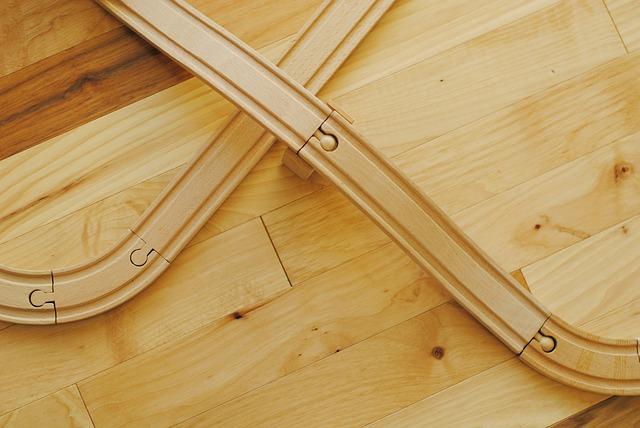 dřevěná železniční trať