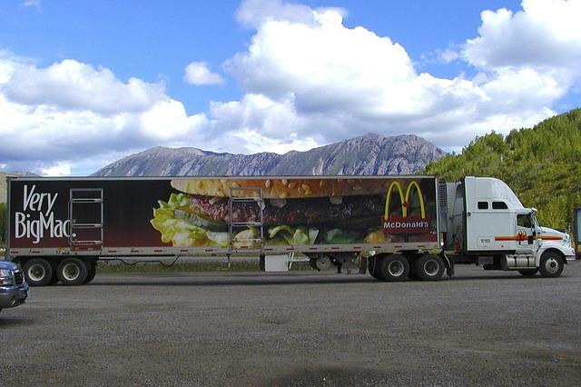 kamion s dlouhým návěsem