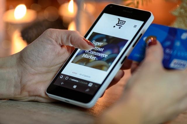 chytrý telefon, nákup přes internet