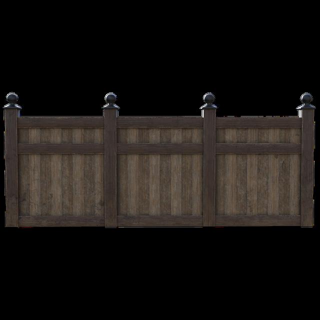Okrasný dřevěný plot