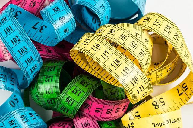 barevné metry měření